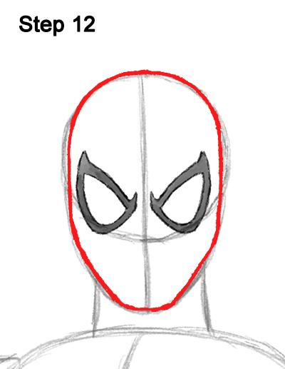 Drawn spiderman mini Marvel Body Draw Spider 12