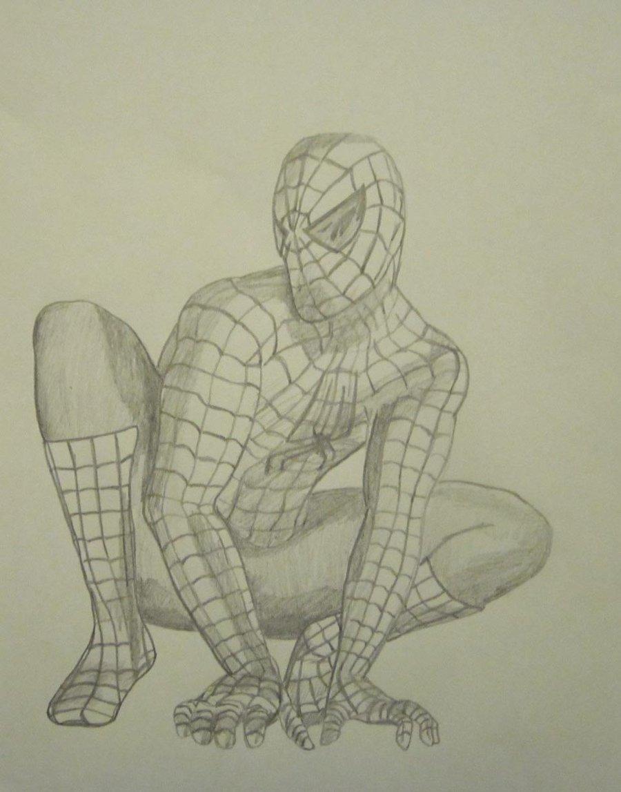 Drawn spiderman pencil sketch Drawin Spiderman Black Drawings Black