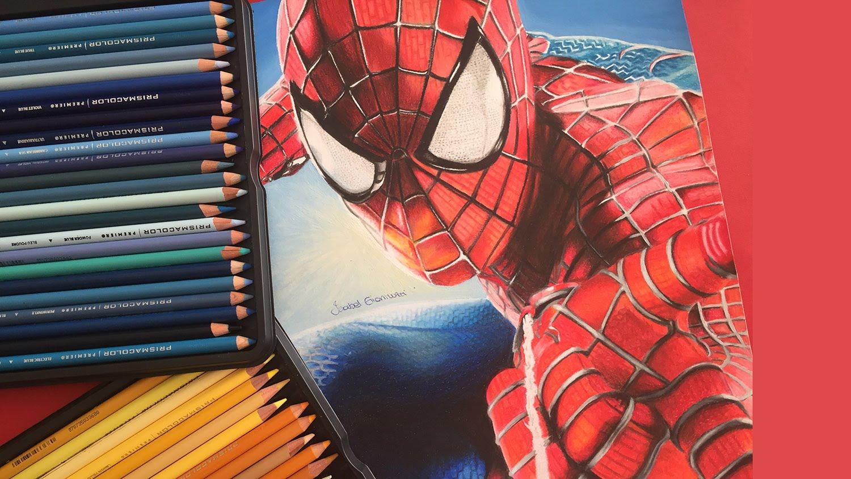 Drawn spider-man pencil drawing YouTube SPIDERMAN (Pencils DRAWING kids)