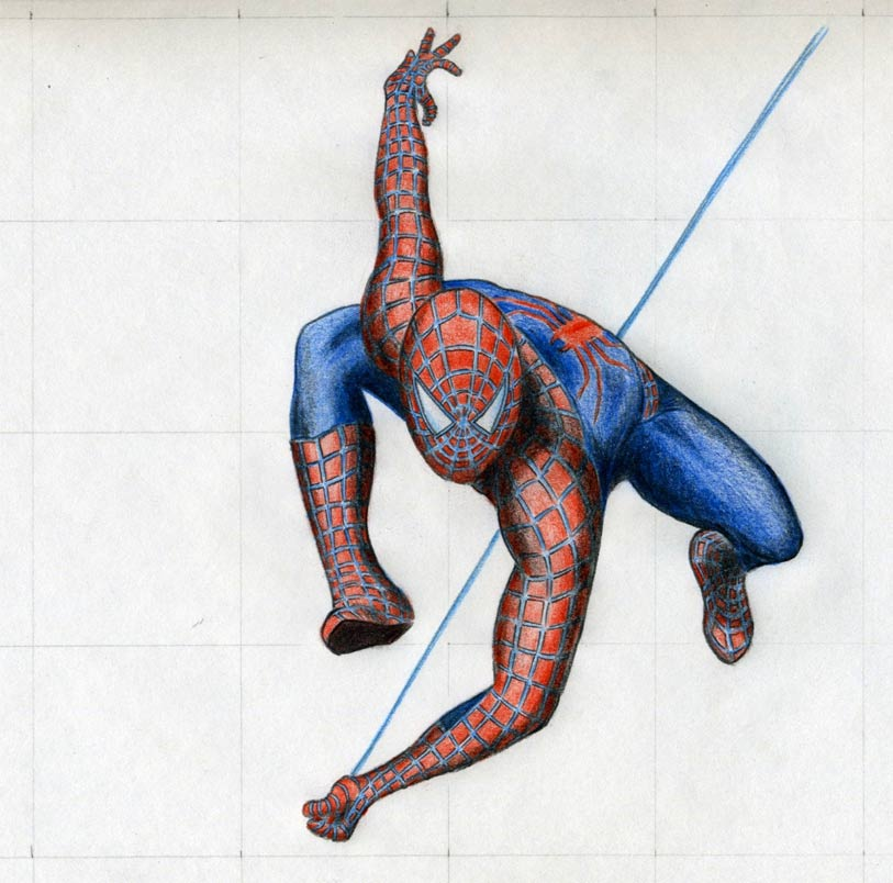 Drawn spider-man pencil drawing In Spiderman Re Action the
