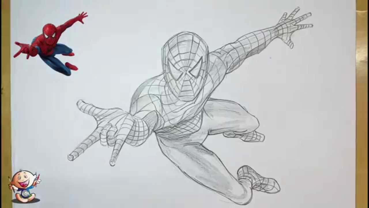 Drawn spiderman pencil sketch Man from Draw Unsubscribe YouTube