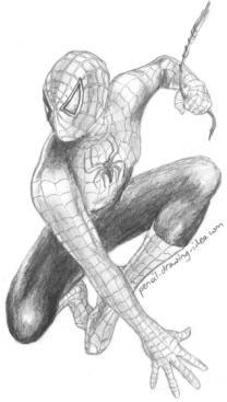 Drawn spiderman pencil sketch Of Drawings Pencil Pencil Spiderman