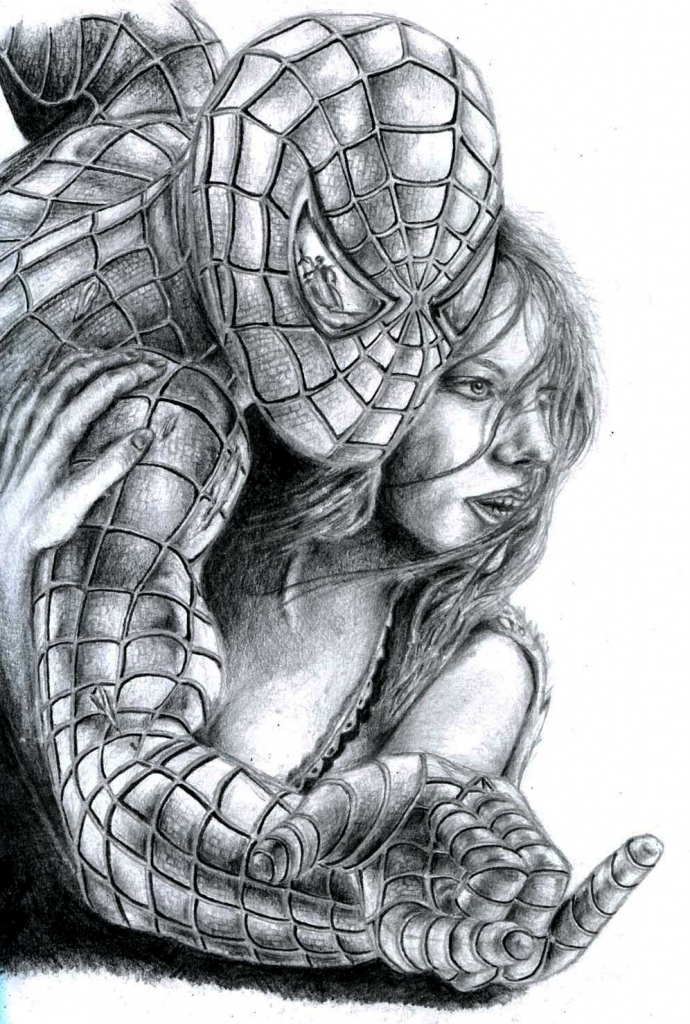 Drawn spiderman pencil sketch Spiderman Pencil drawings Spiderman of