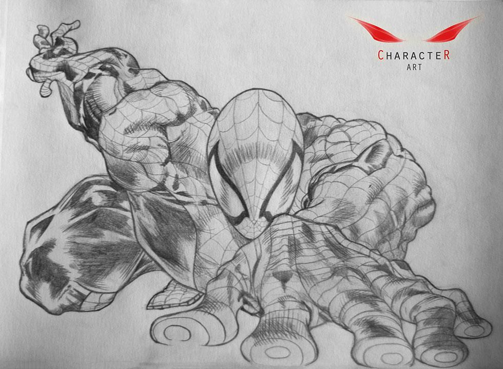 Drawn spiderman pencil sketch în Man Pencil more! //