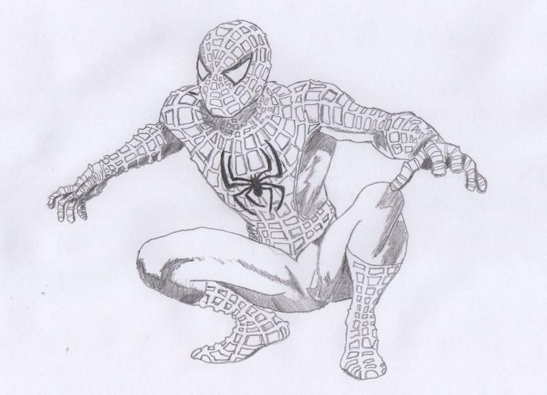 Drawn spiderman pencil sketch Spiderman Spiderman by of Drawing