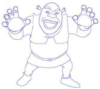 Drawn spiderman shrek To Draw Step Shrek Draw
