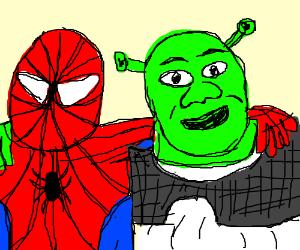 Drawn spiderman shrek Torchwood Spiderman are Shrek and