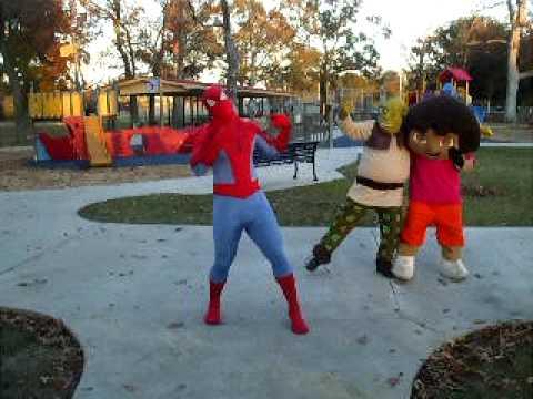 Drawn spiderman shrek Dr shrek rehersal shrek Playtime