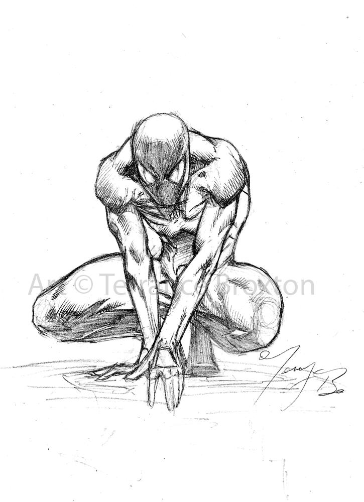 Drawn spider-man sketch Spiderman Spiderman Sketch Man by