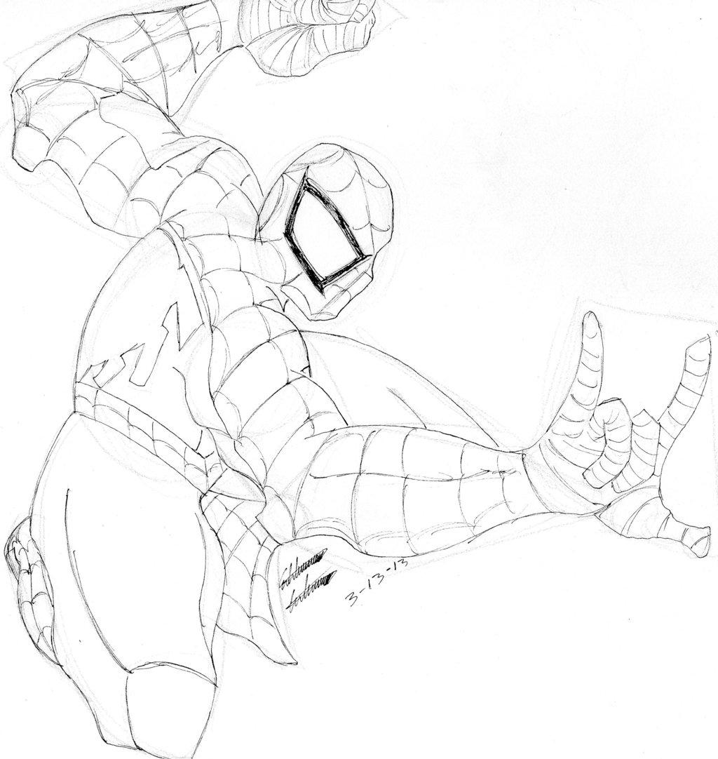 Drawn spider-man sketch On Edd Quick Sketch Spider