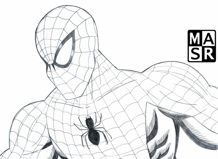 Drawn spider-man sketch By rattrap587 Man rattrap587 Sketch