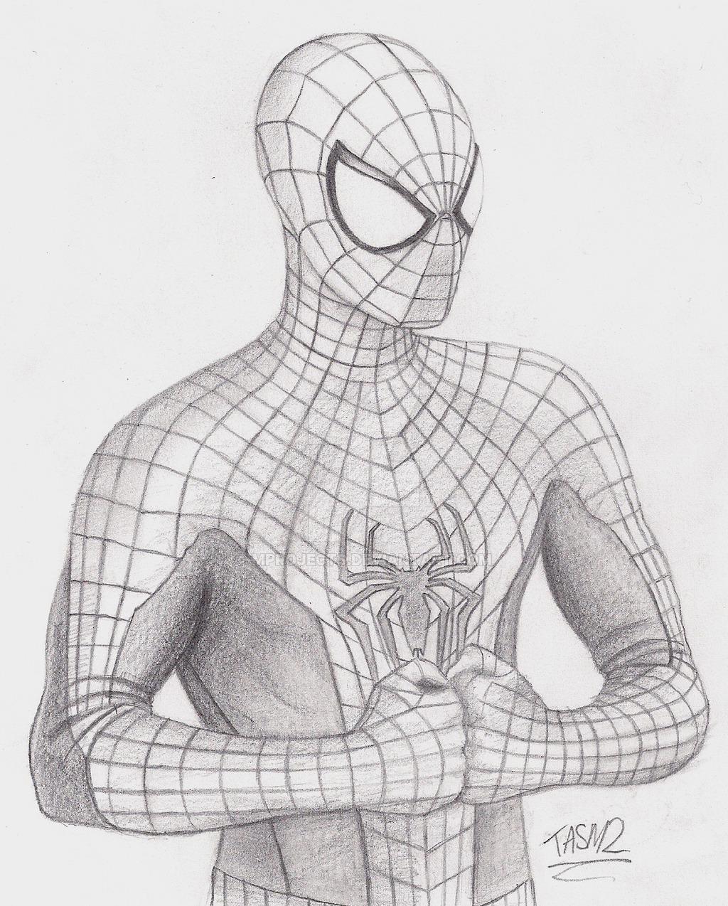 Drawn spider-man sketch Amazing Spider photo#23 costume The