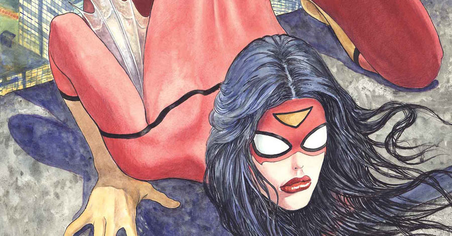 Drawn spiderman spiderwoman Variant Milo Responds Cover