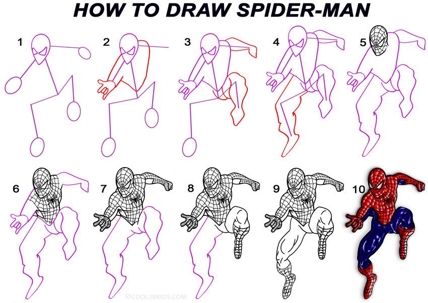 Drawn spiderman step by step Pinterest Ideas Man  to