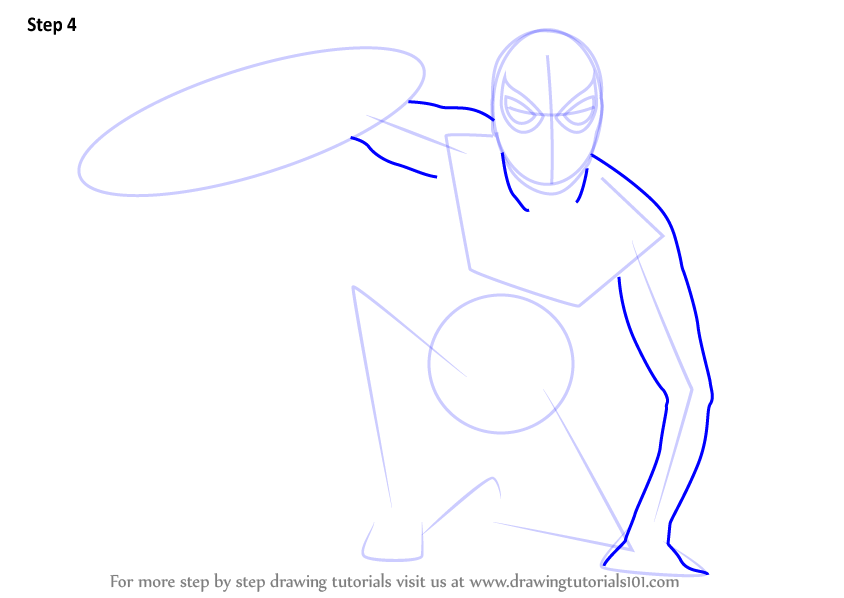 Drawn spiderman step by step  5 Captain America How