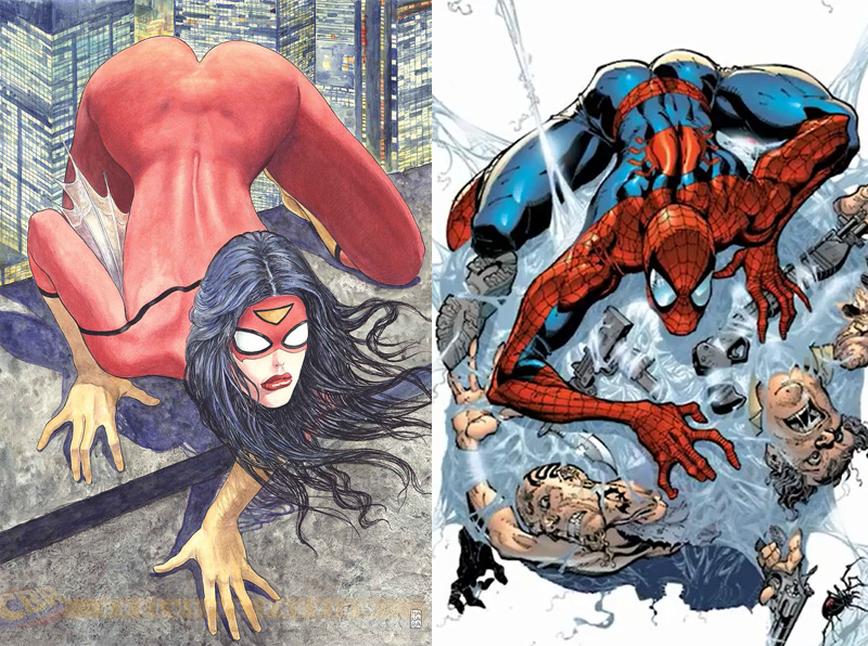 Drawn spiderman spiderwoman  Spider Butts