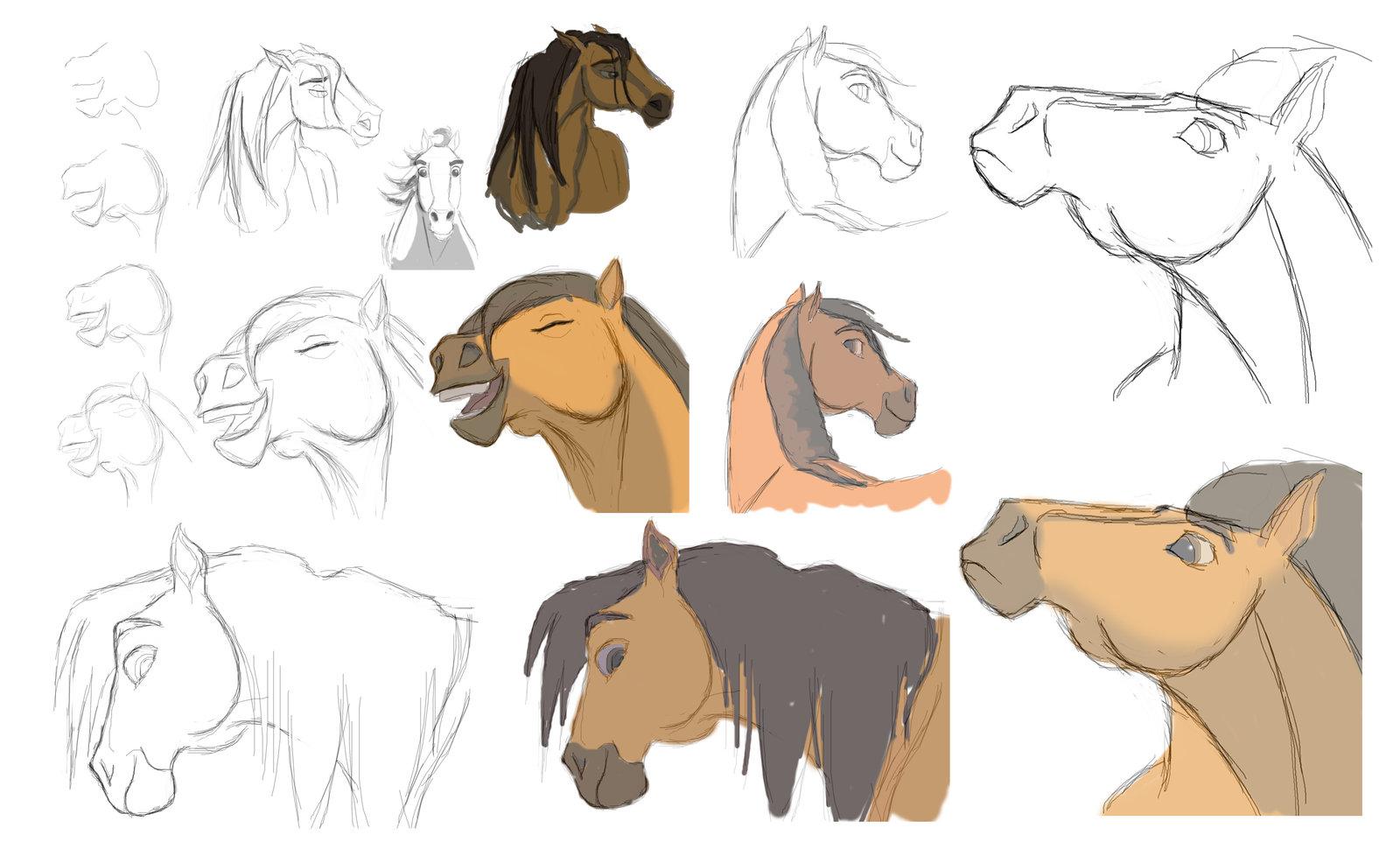 Drawn horse spirit Spirit Sketches DeviantArt Sketches Edited