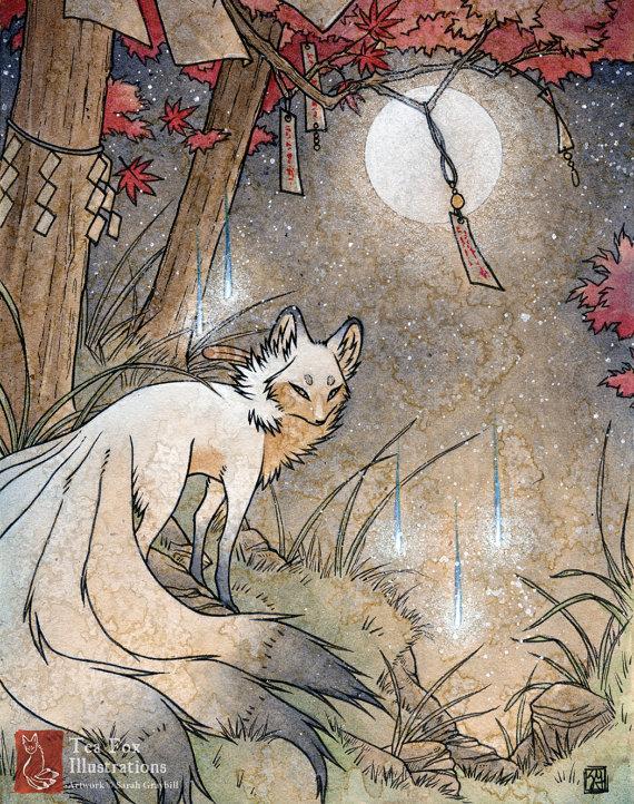 Drawn spirit geist 11 / Strähnen japanischen Kitsune