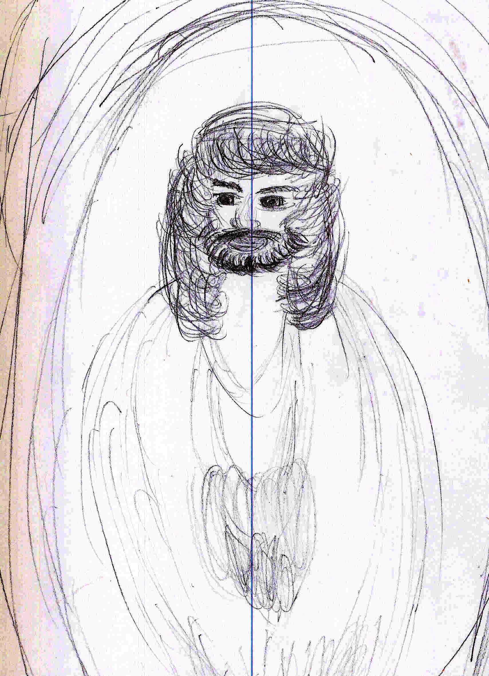 Drawn spirit guardian Getting to woman But spirit