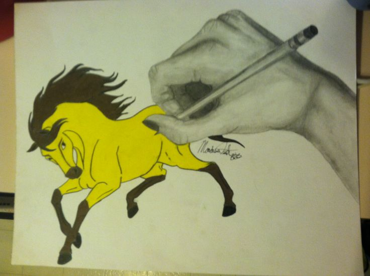 Drawn spirit mustang horse Images Cimarron best Cimarron Pinterest