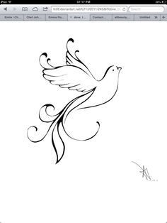 Drawn spirit simple Tattoo Holy Tattoos 25+ Dove