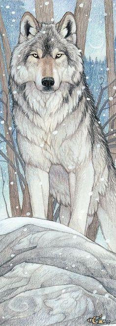 Drawn spirit smokey Animal Goldenwolf Spirit Guide with
