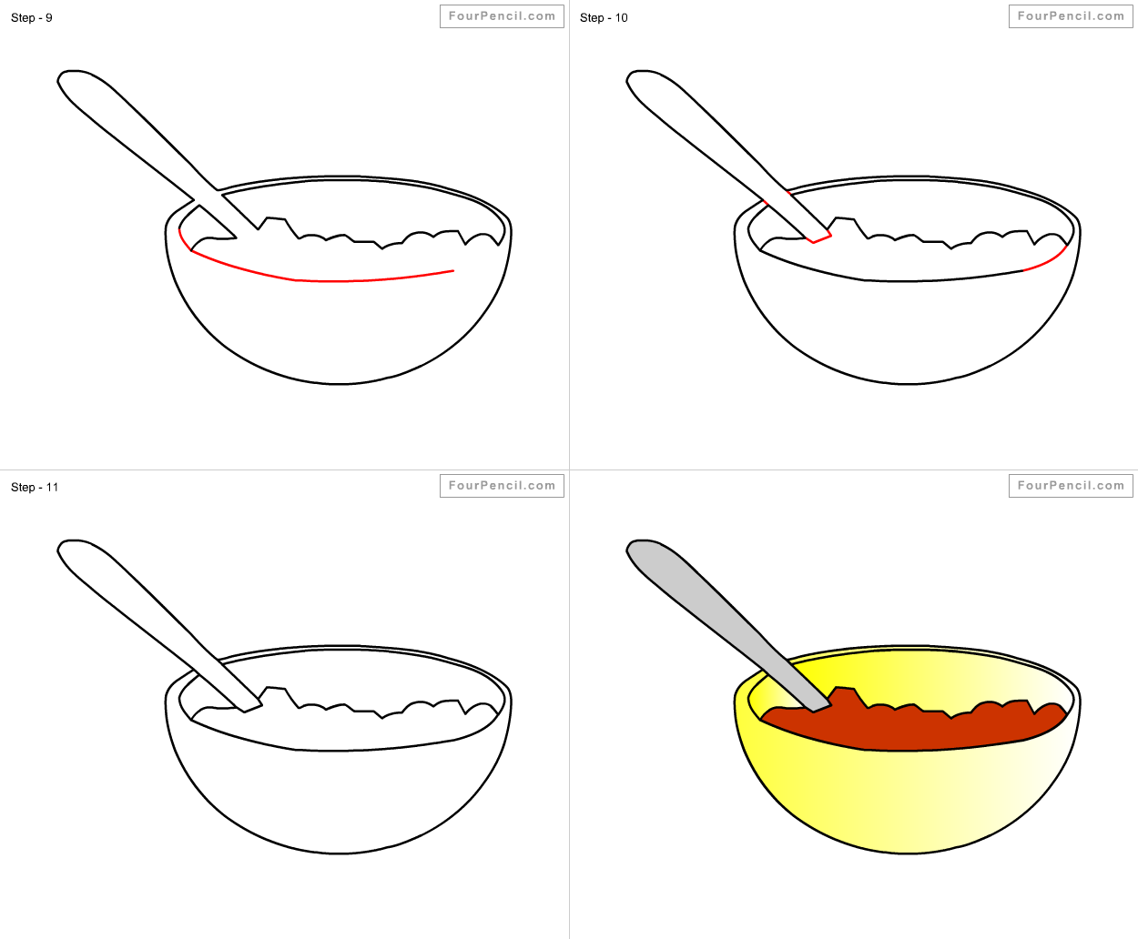 Drawn spoon cereal How Cereal Cereal draw by