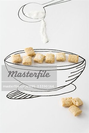 Drawn spoon cereal Cereal over Masterfile Stock cereal