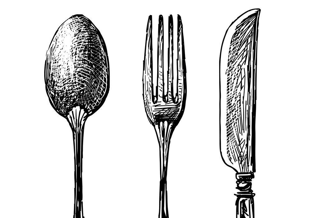 Drawn spoon cutlery JSTOR Spoon or Which Knife