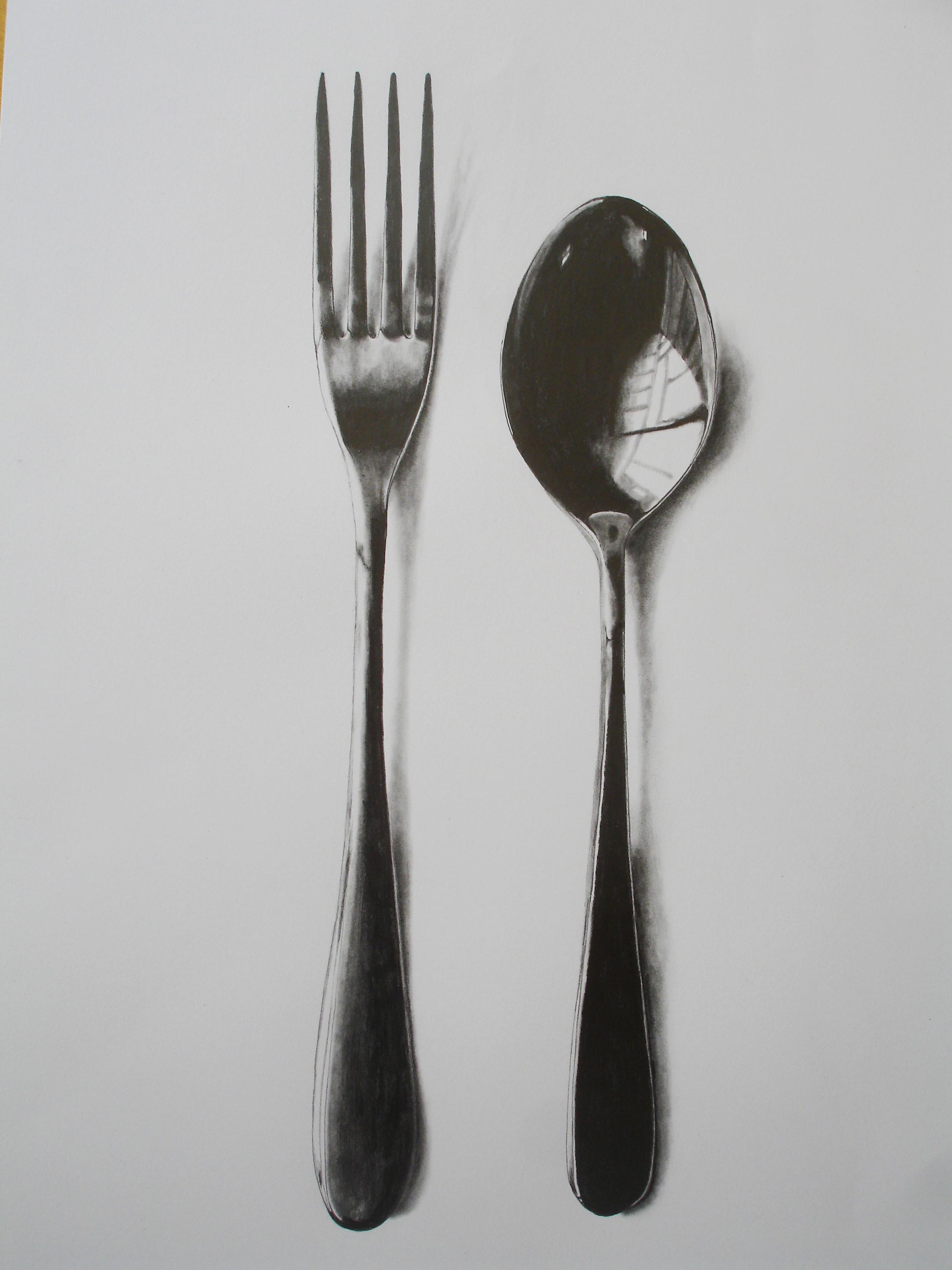 Drawn spoon cutlery Of janbrewerton brewerton co drawing