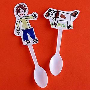 Drawn spoon cereal Cups Ask Crafts draw Hand
