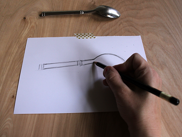 Drawn spoon Drawing spoon A Brilliant: Be