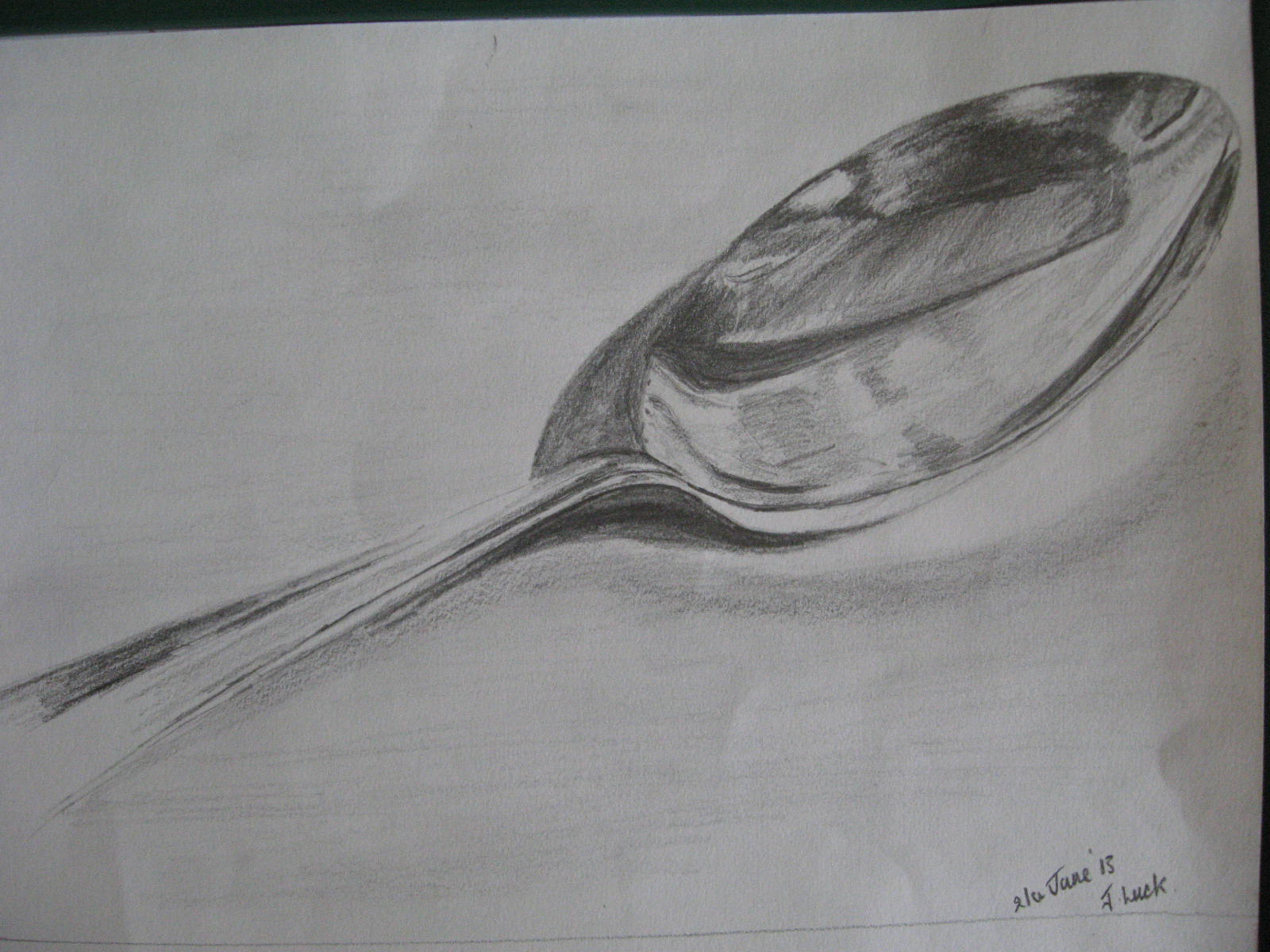 Drawn spoon pencil drawing Pencil Drawing Drawing Spoon Keyword
