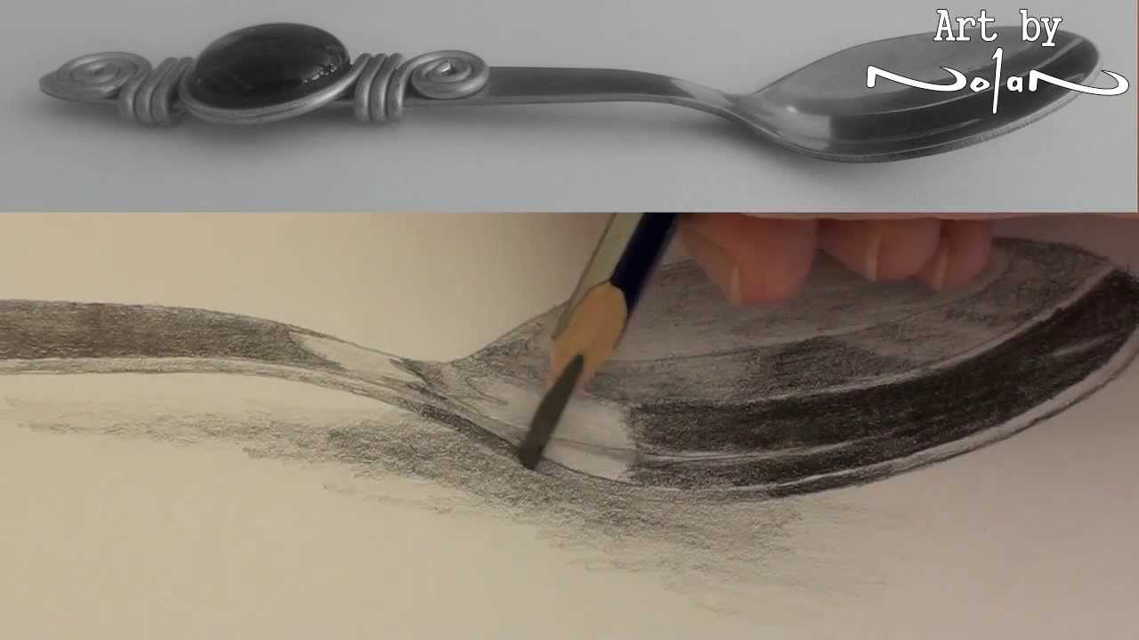 Drawn spoon pencil drawing Realistic to techniques pencil shading