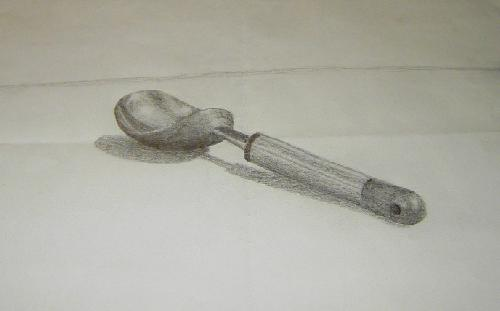 Drawn spoon pencil drawing Spoon Pencil Pencil Scooper Ice