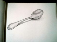 Drawn spoon pencil drawing #pencil #Dibujo #draw días ·