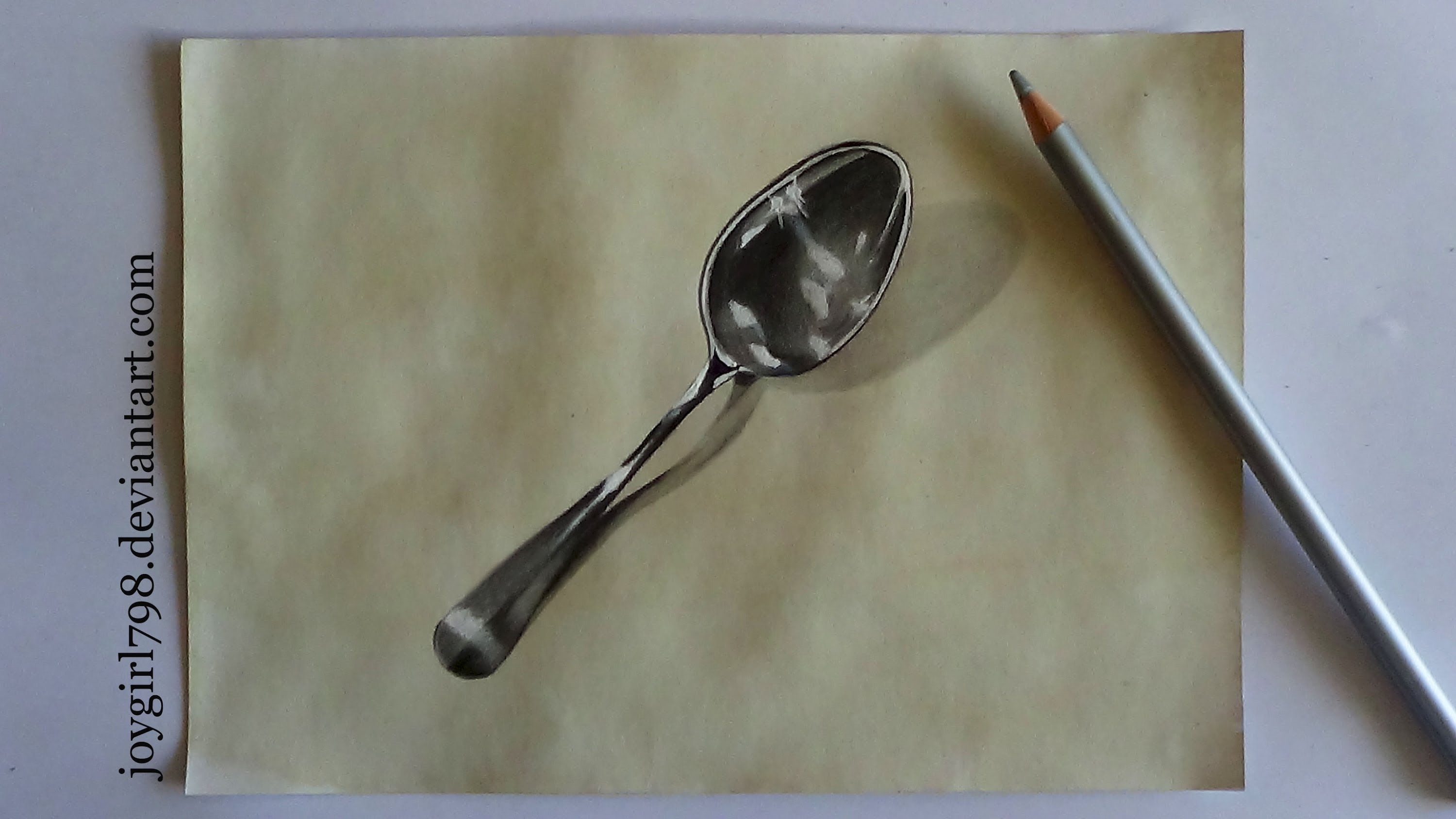 Drawn spoon pencil drawing Metal draw Pencils] spoon YouTube