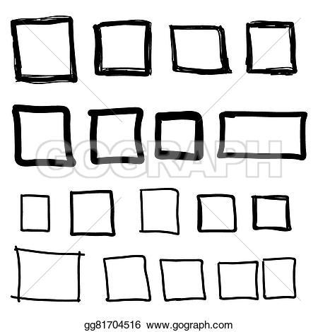 Drawn square watercolor Vector Vector  hand square