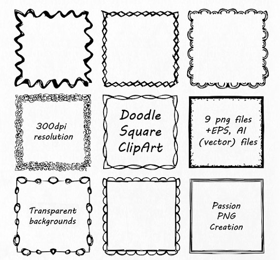 Square clipart hand drawn Doodle by PNG Square Square