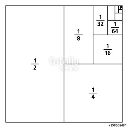 Drawn square six Portions Unit the One drawn