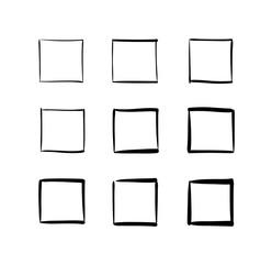 Drawn squares Of drawn Set by photos