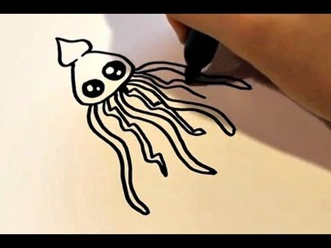 Drawn squid cute Drawing Pinterest images best Cartoon