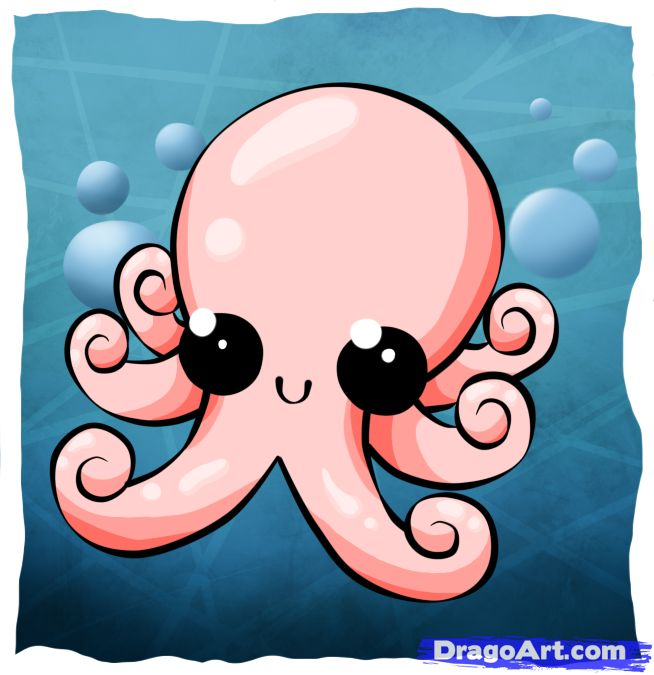 Drawn squid cute Pin cute! images and Pinterest