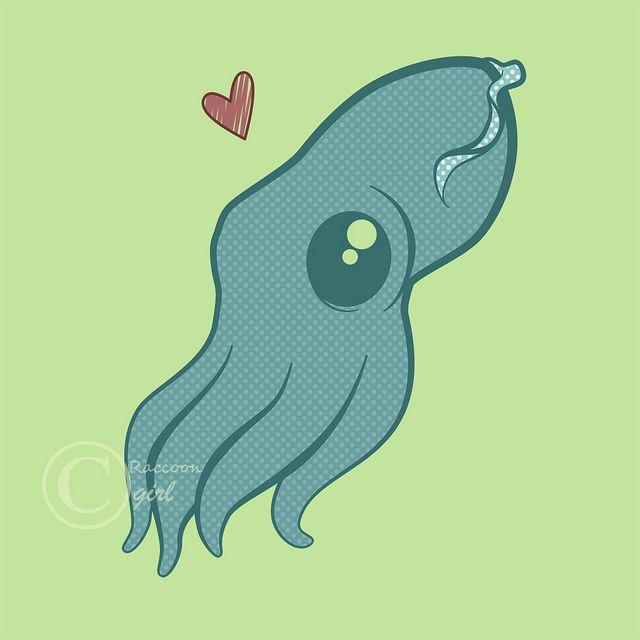 Drawn squid cute Drawing got squid : Squid