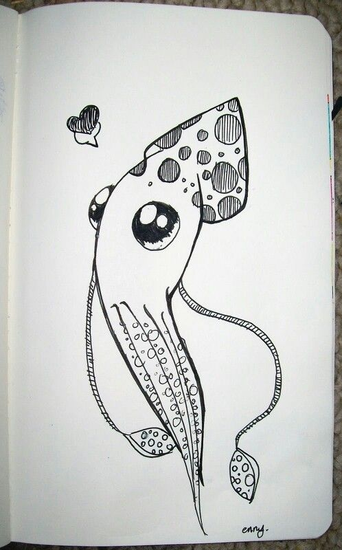 Drawn squid cute Pinterest on Squid drawing Squid