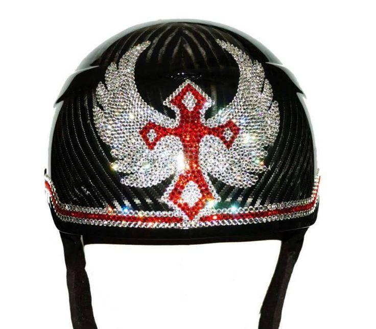 Drawn squid diva helmet REALLY Helmets Bling Helmets shiny