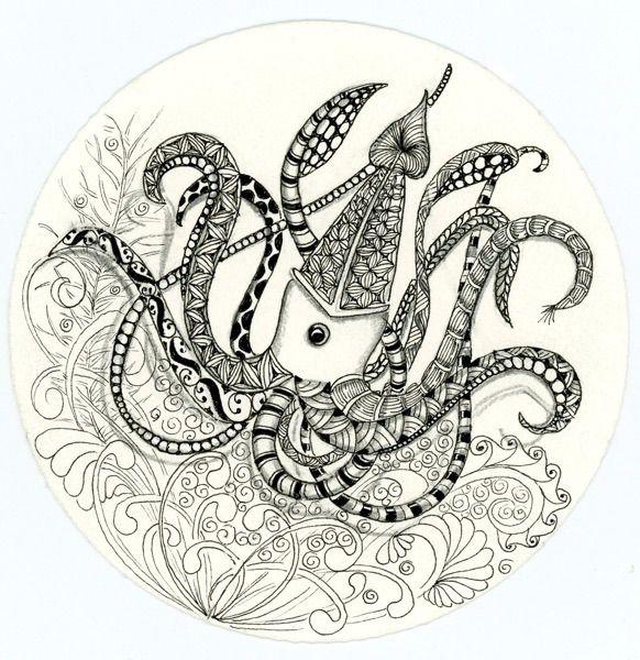 Drawn squid diva helmet Am squid Squid a I