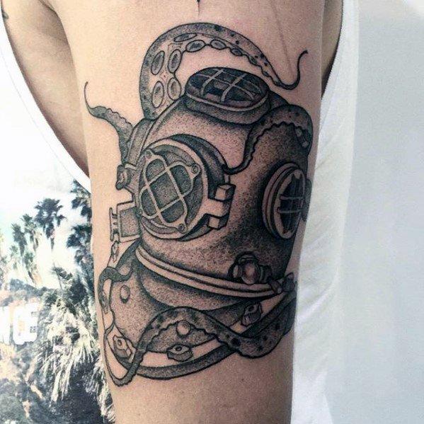 Drawn squid diver helmet For Deep Sea Helmet Men