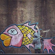 Drawn squid graffiti Graffiti fish (beyondgrasp) the on