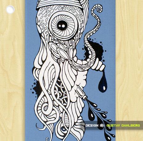 Drawn squid graffiti Gustav Interview  squid Interview